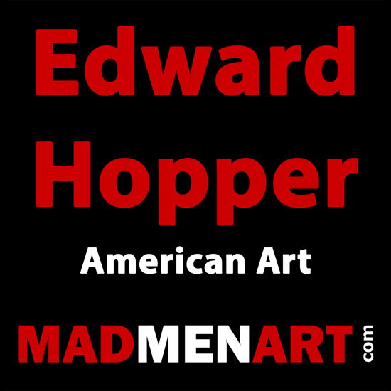 Mad Men Art Edward Hopper | Edward Hopper Paintings, Aquarelles, Illustrations, Ads 1900-1966