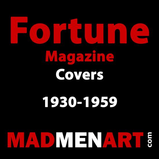 Mad Men Art Fortune 1930-1959 | Fortune Magazine Graphic Art Covers 1930-1959