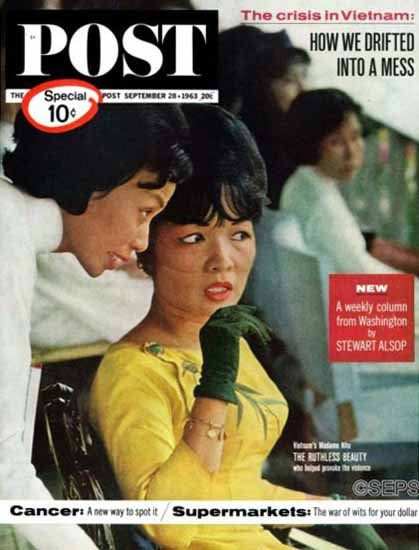 Madame Nhu Saturday Evening Post 1963_09_28 | Vintage Ad and Cover Art 1891-1970