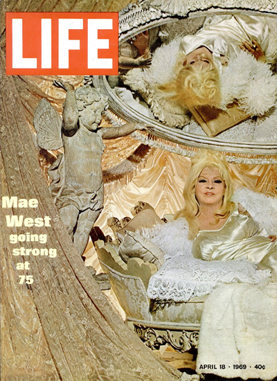 Mae West and her Way Out West 18 Apr 1969 Copyright Life Magazine   Life Magazine Color Photo Covers 1937-1970