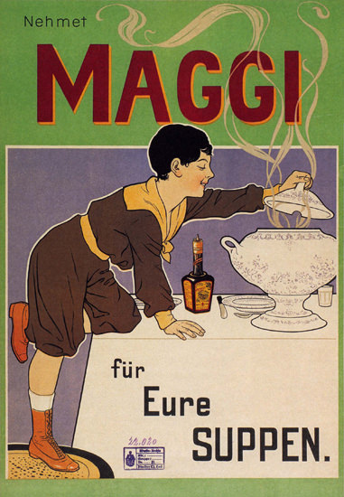 Maggi Fuer Eure Suppen Switzerland Schweiz | Vintage Ad and Cover Art 1891-1970