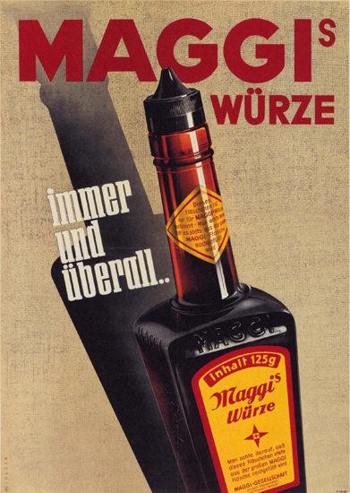 Maggi Wuerze immer Und Ueberall Switzerland   Vintage Ad and Cover Art 1891-1970