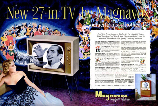 Magnavox Television Magician | Vintage Ad and Cover Art 1891-1970