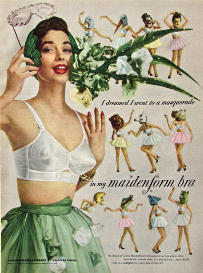 Maidenform Bra Masquerade  I Dreamed | Sex Appeal Vintage Ads and Covers 1891-1970