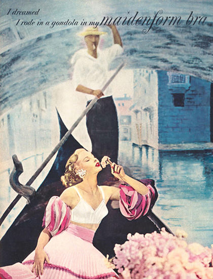 Maidenform Bra Venice I Dreamed | Sex Appeal Vintage Ads and Covers 1891-1970