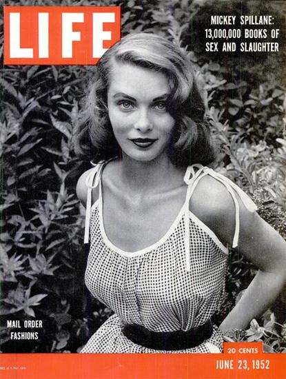 Mail Order Fashions 23 Jun 1952 Copyright Life Magazine | Life Magazine BW Photo Covers 1936-1970