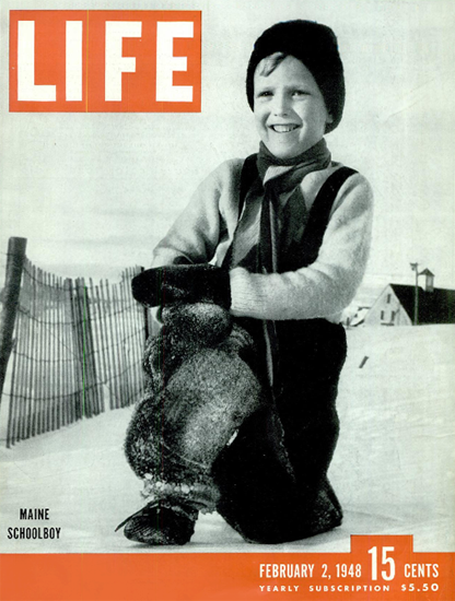 Main Schoolboy 2 Feb 1948 Copyright Life Magazine | Life Magazine BW Photo Covers 1936-1970