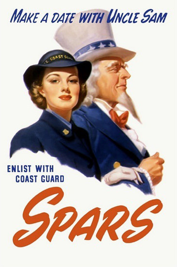 Make A Date With Uncle Sam Coast Guard Cadet | Vintage War Propaganda Posters 1891-1970