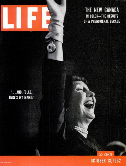 Mamie Eisenhower 13 Oct 1952 Copyright Life Magazine | Life Magazine BW Photo Covers 1936-1970