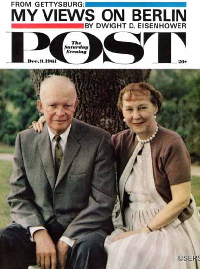 Mamie and Dwight D Eisenhower Saturday Evening Post 1961_12_09 | Vintage Ad and Cover Art 1891-1970