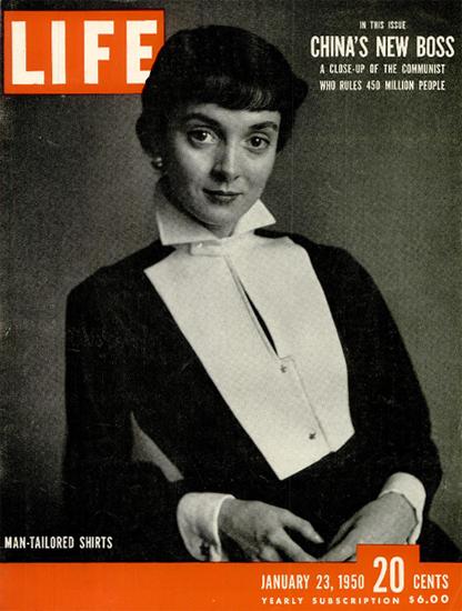 Man-Tailored Shirts 23 Jan 1950 Copyright Life Magazine | Life Magazine BW Photo Covers 1936-1970