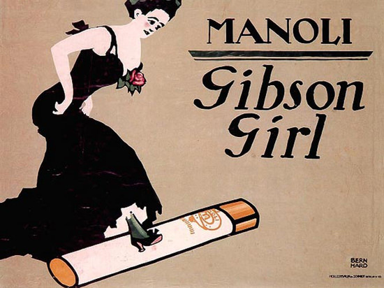Manoli Gibson Girl Lucian Bernhard 1910 | Vintage Ad and Cover Art 1891-1970