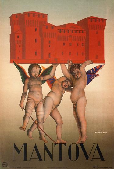 Mantova Angels Italy Italia | Vintage Travel Posters 1891-1970
