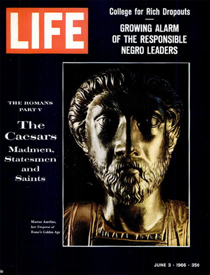 Marc Aurelius Emperor Golden Age 3 Jun 1966 Copyright Life Magazine | Life Magazine Color Photo Covers 1937-1970