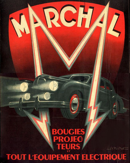 Marchal Bougies Projecteurs 1949 | Vintage Ad and Cover Art 1891-1970