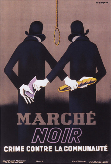 Marche Noir Crime Contre La Communaute | Vintage War Propaganda Posters 1891-1970