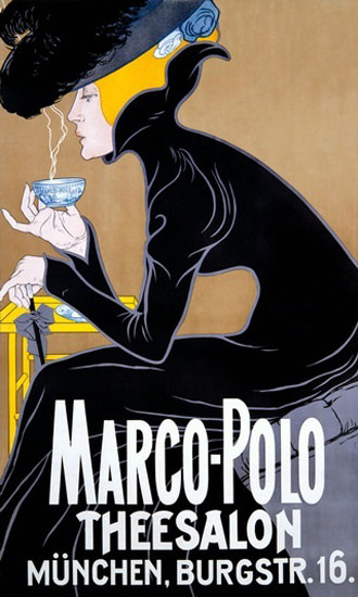 Marco Polo Theesalon Muenchen Tearoom | Sex Appeal Vintage Ads and Covers 1891-1970