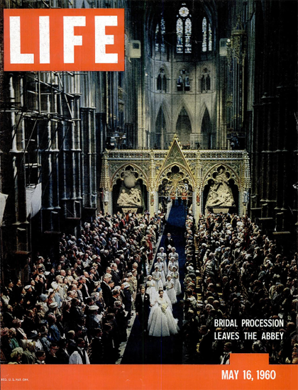 Margaret Antony Armstrong Wed 16 May 1960 Copyright Life Magazine   Life Magazine Color Photo Covers 1937-1970