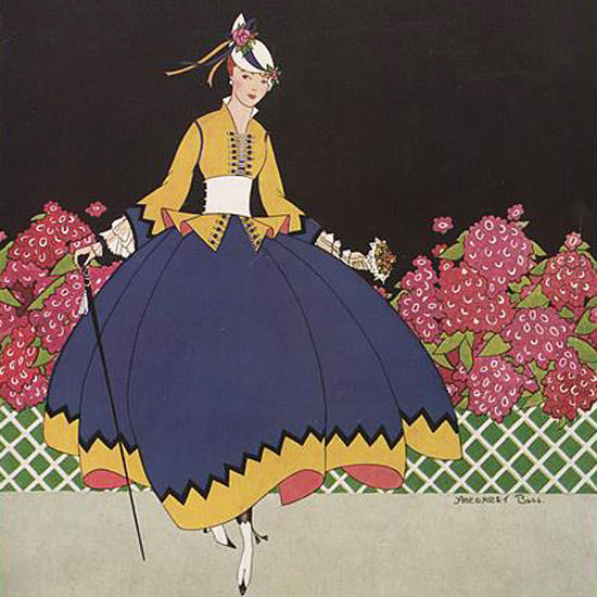 Margaret B Bull Vogue Cover 1915-07-15 Copyright crop | Best of 1891-1919 Ad and Cover Art