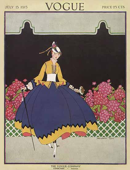 Margaret B Bull Vogue Cover 1915-07-15 Copyright | Vogue Magazine Graphic Art Covers 1902-1958