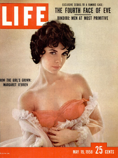 Margaret O Brien is grown 19 May 1958 Copyright Life Magazine | Life Magazine Color Photo Covers 1937-1970