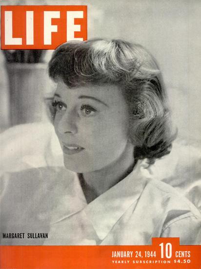 Margaret Sullavan 24 Jan 1944 Copyright Life Magazine | Life Magazine BW Photo Covers 1936-1970
