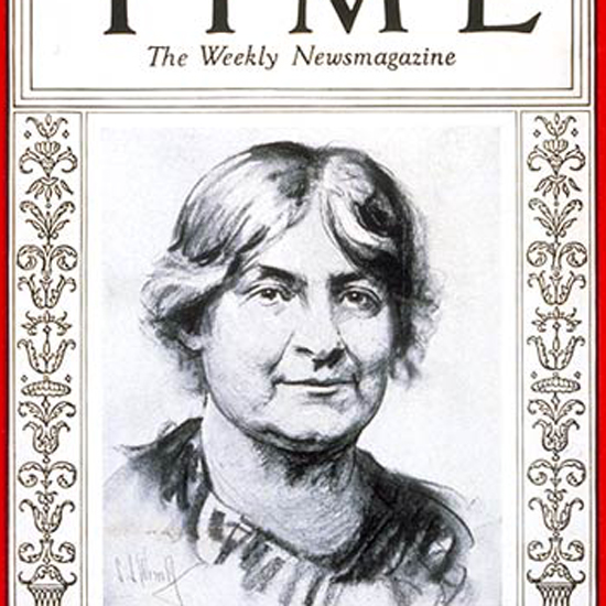 Maria Montessori Time Magazine 1930-02 crop | Best of Vintage Cover Art 1900-1970