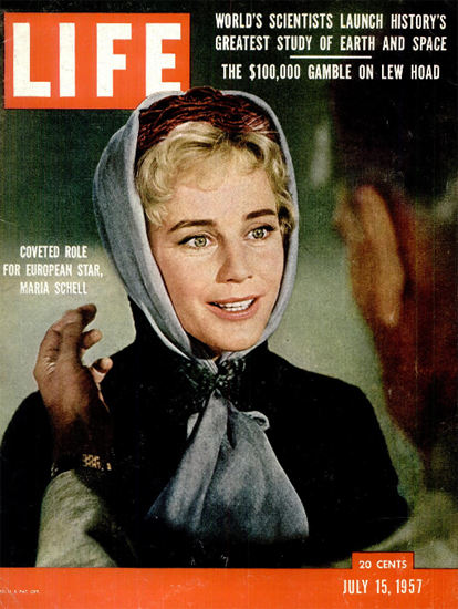 Maria Schell Coveted Role 15 Jul 1957 Copyright Life Magazine | Life Magazine Color Photo Covers 1937-1970