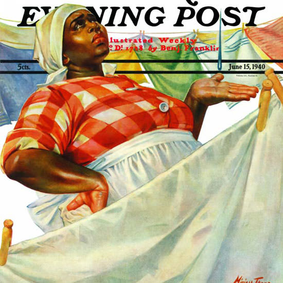 Mariam Troop Saturday Evening Post Laundry 1940_06_15 Copyright crop | Best of 1940s Ad and Cover Art