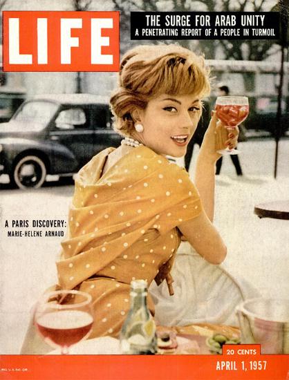 Marie-Helene Arnaud Paris Discovery 1 Apr 1957 Copyright Life Magazine   Life Magazine Color Photo Covers 1937-1970