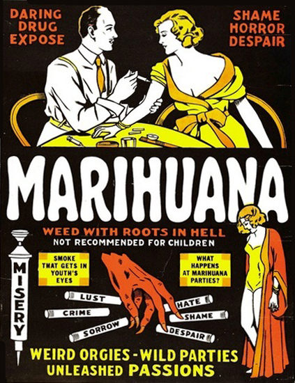 Marihuana Weed With Roots In Hell Orgies | Sex Appeal Vintage Ads and Covers 1891-1970