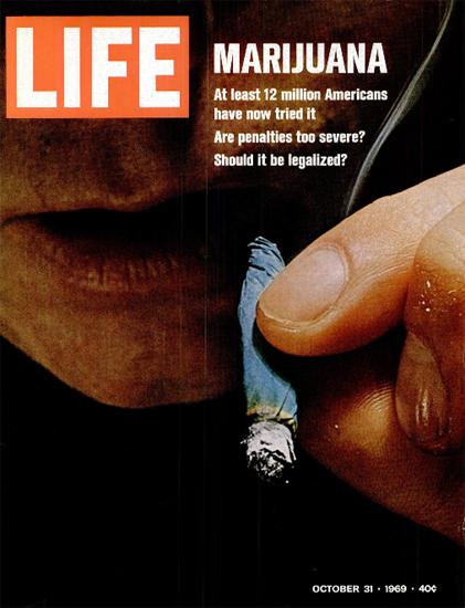 Marijuana over 12000000 Americans 31 Oct 1969 Copyright Life Magazine | Life Magazine Color Photo Covers 1937-1970