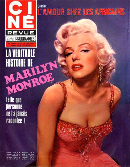 Marilyn Monroe Cine Cover | Sex Appeal Vintage Ads and Covers 1891-1970