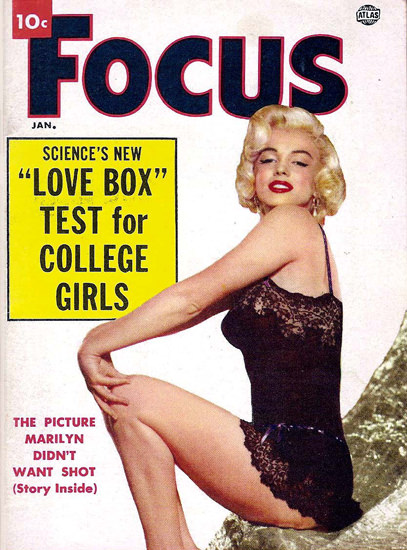 Marilyn Monroe Focus Cover Copyright 1952 | Sex Appeal Vintage Ads and Covers 1891-1970