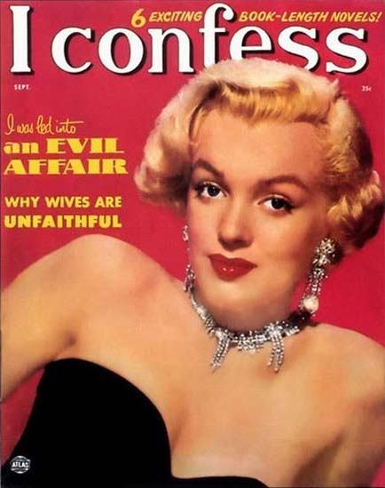 Marilyn Monroe I Confess Cover | Sex Appeal Vintage Ads and Covers 1891-1970