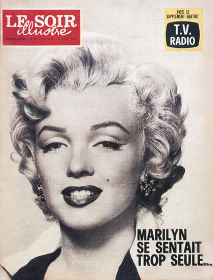Marilyn Monroe Le Soir Illustre Cover Copyright 1962   Sex Appeal Vintage Ads and Covers 1891-1970