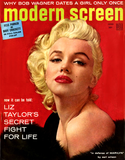 Marilyn Monroe Modern Screen Cover Copyright 1955 | Sex Appeal Vintage Ads and Covers 1891-1970