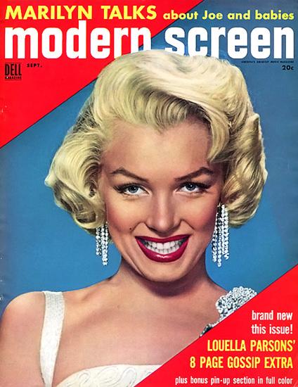 Marilyn Monroe Modern Screen Marilyn Babies | Sex Appeal Vintage Ads and Covers 1891-1970