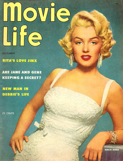 Marilyn Monroe Movie Life Cover Copyright 1953   Sex Appeal Vintage Ads and Covers 1891-1970