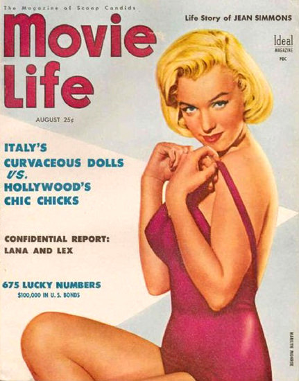 Marilyn Monroe Movie Life Cover Copyright 1954 | Sex Appeal Vintage Ads and Covers 1891-1970