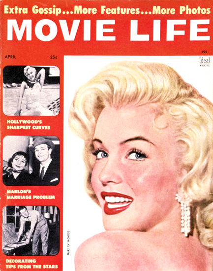 Marilyn Monroe Movie Life Cover | Sex Appeal Vintage Ads and Covers 1891-1970