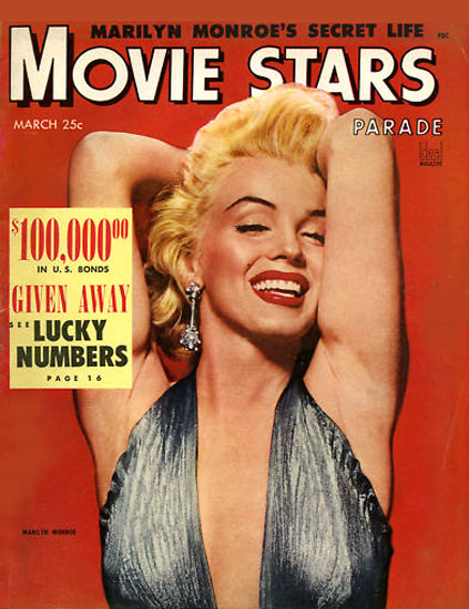 Marilyn Monroe Movie Stars Cover Copyright 1953 | Sex Appeal Vintage Ads and Covers 1891-1970