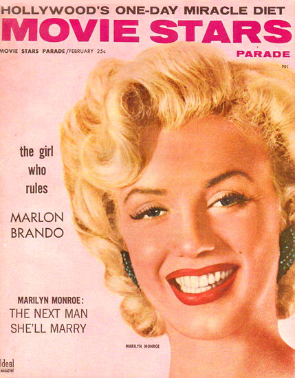 Marilyn Monroe Movie Stars Cover Copyright 1956 | Sex Appeal Vintage Ads and Covers 1891-1970