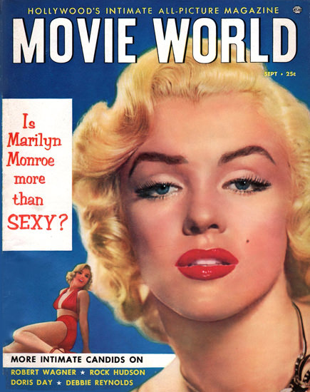 Marilyn Monroe Movie World Cover Copyright 1953 | Sex Appeal Vintage Ads and Covers 1891-1970