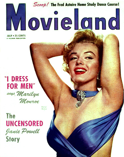 Marilyn Monroe Movieland Cover Copyright 1950 | Sex Appeal Vintage Ads and Covers 1891-1970