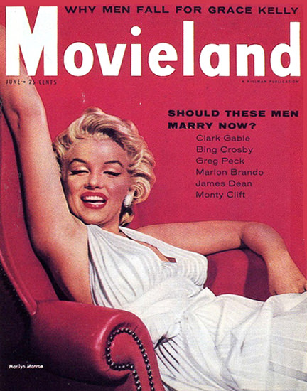 Marilyn Monroe Movieland Cover | Sex Appeal Vintage Ads and Covers 1891-1970