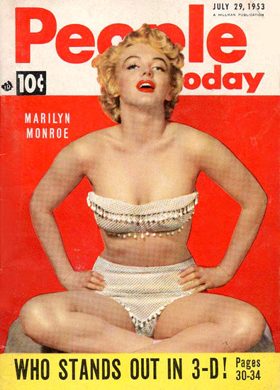 Marilyn Monroe People Today Cover Copyright 1953 | Sex Appeal Vintage Ads and Covers 1891-1970