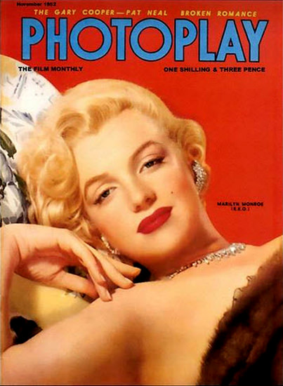 Marilyn Monroe Photoplay Cover Copyright 1952 | Sex Appeal Vintage Ads and Covers 1891-1970
