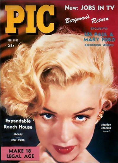 Marilyn Monroe Pic Cover Copyright 1952 | Sex Appeal Vintage Ads and Covers 1891-1970
