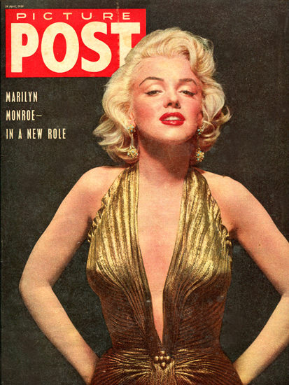 Marilyn Monroe Picture Post Cover Copyright 1954 | Sex Appeal Vintage Ads and Covers 1891-1970